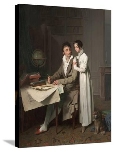 The Geography Lesson (Portrait of Monsieur Gaudry and His Daughte)-Louis-L?opold Boilly-Stretched Canvas Print