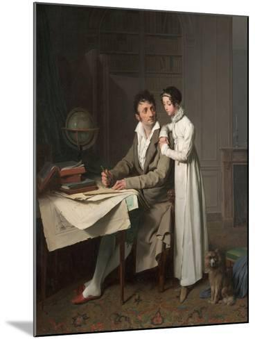 The Geography Lesson (Portrait of Monsieur Gaudry and His Daughte)-Louis-L?opold Boilly-Mounted Giclee Print