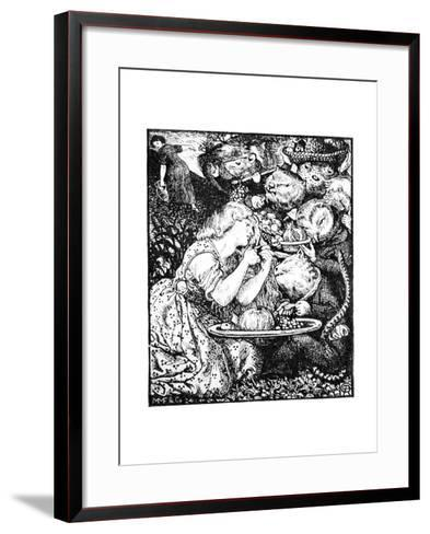 Buy from Us with a Golden Curl--Framed Art Print