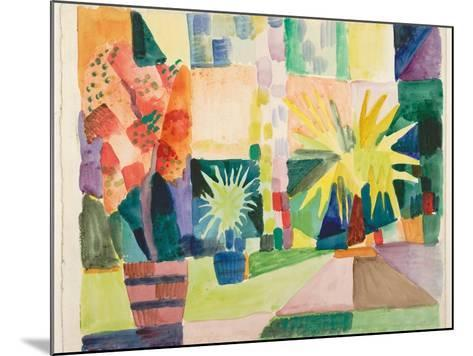 Garden on Lake Thun (Pomegranate Tree and Palm in the Garde), 1914-August Macke-Mounted Giclee Print