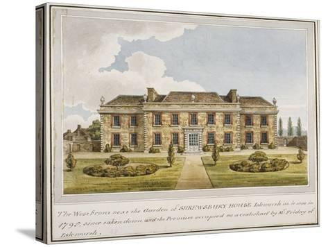 The West Front of Shrewsbury House, Isleworth, Middlesex, C1800--Stretched Canvas Print