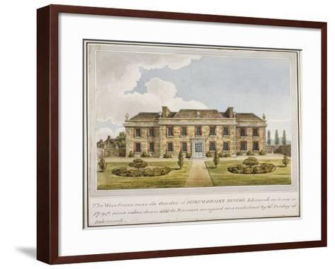 The West Front of Shrewsbury House, Isleworth, Middlesex, C1800--Framed Art Print