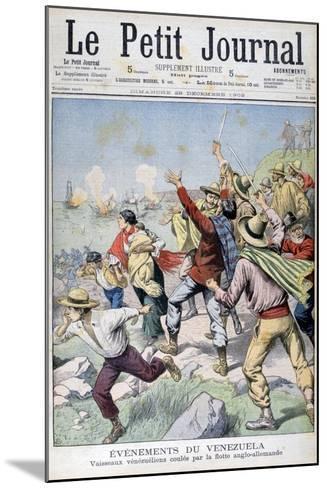 Venezuelan Vessels Sunk by the Anglo-German Fleet, 1902--Mounted Giclee Print