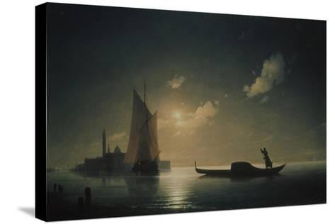 A Gondolier in Venice at Night, 1843-Ivan Konstantinovich Aivazovsky-Stretched Canvas Print