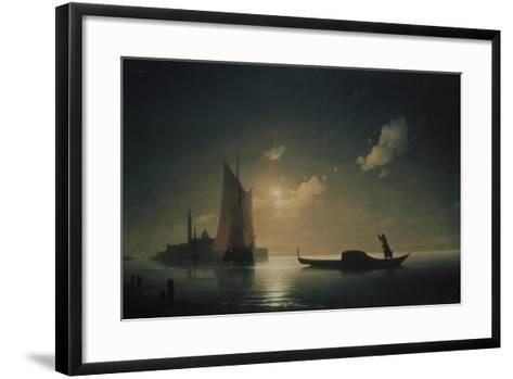 A Gondolier in Venice at Night, 1843-Ivan Konstantinovich Aivazovsky-Framed Art Print