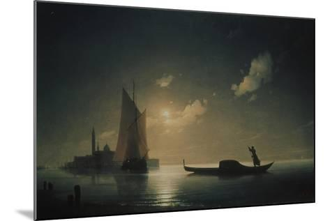 A Gondolier in Venice at Night, 1843-Ivan Konstantinovich Aivazovsky-Mounted Giclee Print