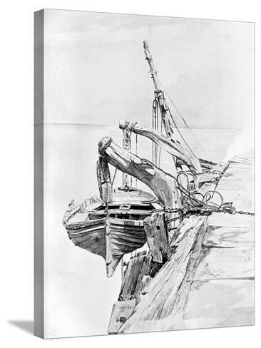 A Study in Pencil and Water Colour, 1858-Charles Napier Hemy-Stretched Canvas Print