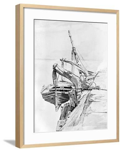 A Study in Pencil and Water Colour, 1858-Charles Napier Hemy-Framed Art Print