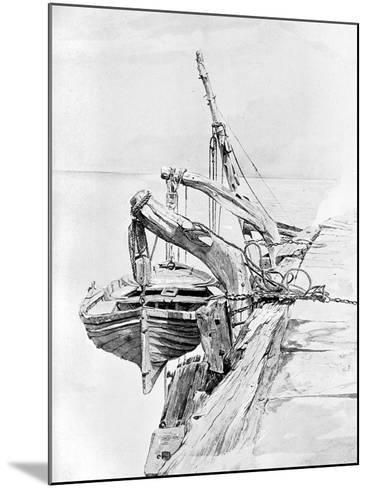 A Study in Pencil and Water Colour, 1858-Charles Napier Hemy-Mounted Giclee Print