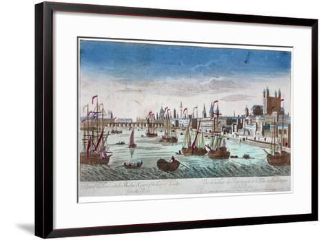 Tower of London, 1766--Framed Art Print