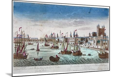 Tower of London, 1766--Mounted Giclee Print