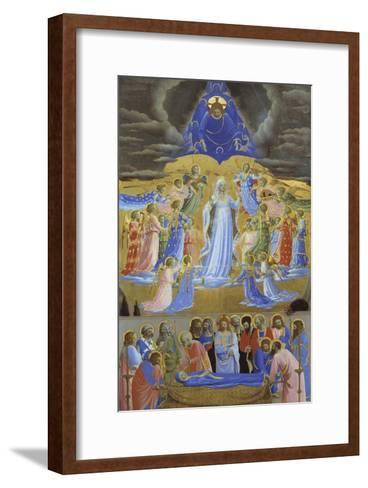 Death and Assumption of the Virgin, Ca 1432-Fra Angelico-Framed Art Print