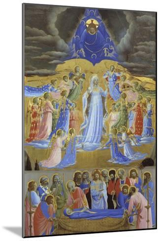 Death and Assumption of the Virgin, Ca 1432-Fra Angelico-Mounted Giclee Print