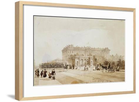 View of the Anichkov Palace in St Petersburg, 1843-Johann Baptist Weiss-Framed Art Print