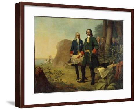 Peter the Great, the Founding of Saint Petersburg, 1838-Alexei Gavrilovich Venetsianov-Framed Art Print