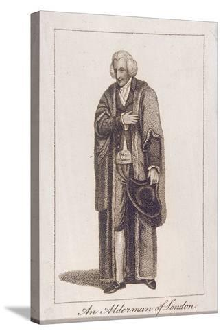 An Alderman of the City of London in Civic Costume, 1805--Stretched Canvas Print
