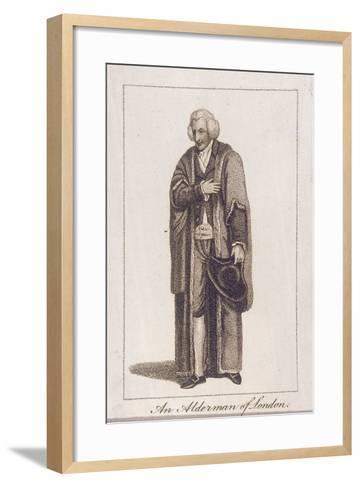 An Alderman of the City of London in Civic Costume, 1805--Framed Art Print