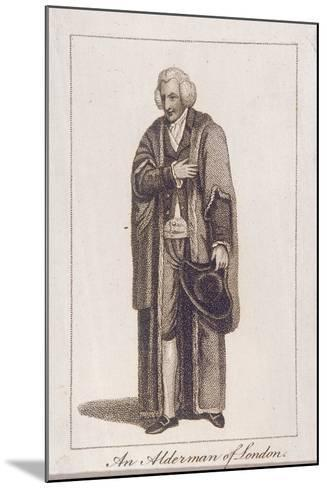 An Alderman of the City of London in Civic Costume, 1805--Mounted Giclee Print