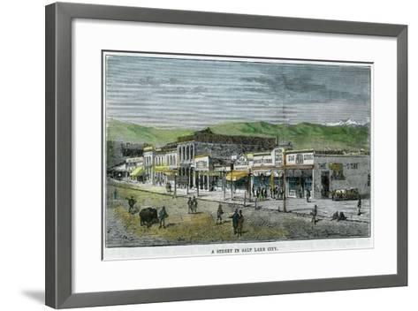 A Street in Salt Lake City, Utah, USA, C1880--Framed Art Print