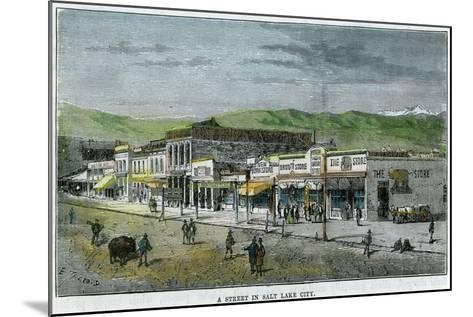 A Street in Salt Lake City, Utah, USA, C1880--Mounted Giclee Print