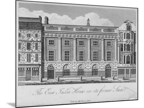 East India House, Leadenhall Street, City of London, 1800--Mounted Giclee Print