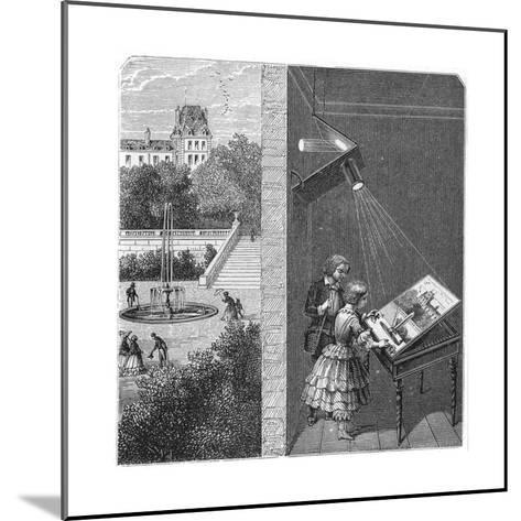 Children Watching an Outdoor Scene Through a Camera Obscura, 1887--Mounted Giclee Print