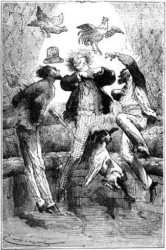 Jules Verne (1828-190) Autour De La Lune, 1865--Stretched Canvas Print