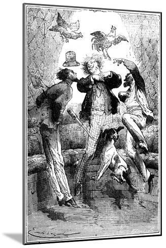 Jules Verne (1828-190) Autour De La Lune, 1865--Mounted Giclee Print