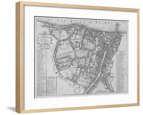Map of the Parishes of St George's and St Saviour'S, Southwark, London, 1755--Framed Art Print