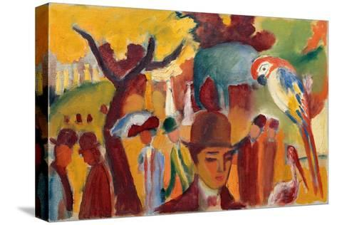 Small Zoological Garden in Brown and Yellow, 1912-August Macke-Stretched Canvas Print