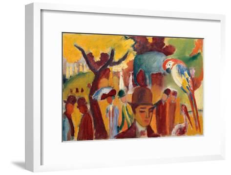Small Zoological Garden in Brown and Yellow, 1912-August Macke-Framed Art Print