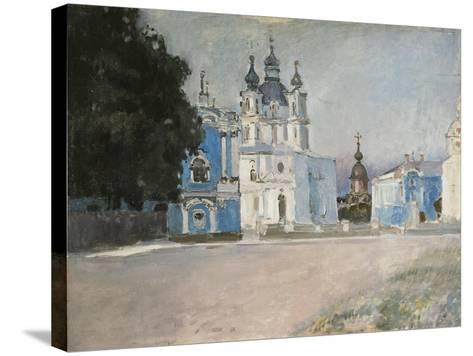 The Smolny Convent in Saint Petersburg, Early 20th C-Stepan Petrovich Yaremich-Stretched Canvas Print