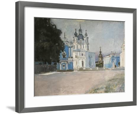 The Smolny Convent in Saint Petersburg, Early 20th C-Stepan Petrovich Yaremich-Framed Art Print
