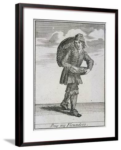 Buy My Flounders, Cries of London-Marcellus Laroon-Framed Art Print