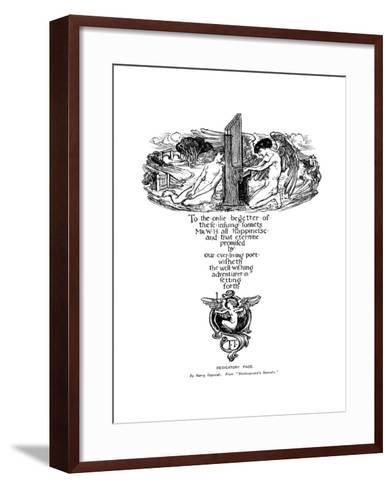 Dedicatory Page from Shakespeare's Sonnets, 1899-Henry Ospovat-Framed Art Print
