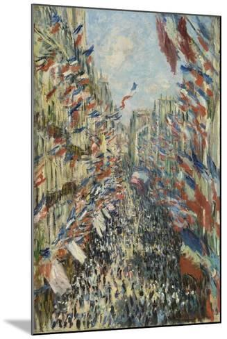 The Rue Montorgueil in Paris, Celebration of June 30, 1878, 1878-Claude Monet-Mounted Giclee Print