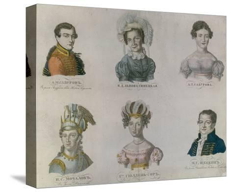 The Actors of Pushkin's Time, 1820S--Stretched Canvas Print