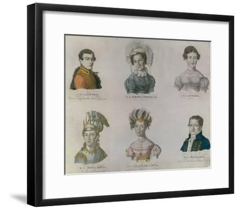 The Actors of Pushkin's Time, 1820S--Framed Art Print