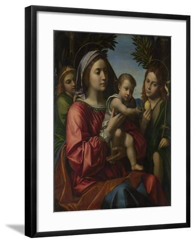 The Virgin and Child with the Baptist and an Angel, C. 1516-Paolo Morando-Framed Art Print