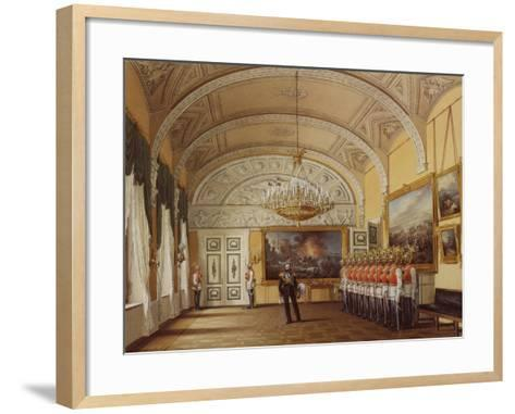 Interiors of the Winter Palace, the Guardroom, 1864-Eduard Hau-Framed Art Print