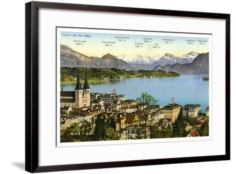 Lucerne and the Alps, Switzerland, 20th Century--Framed Art Print