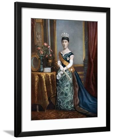 Empress Shoken, Empress Consort of Japan, Late 19th-Early 20th Century--Framed Art Print