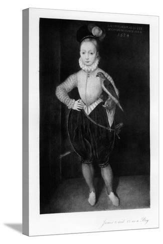 James I as a Boy--Stretched Canvas Print