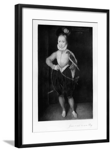 James I as a Boy--Framed Art Print