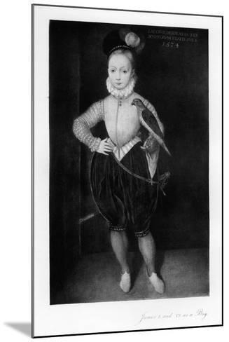 James I as a Boy--Mounted Giclee Print