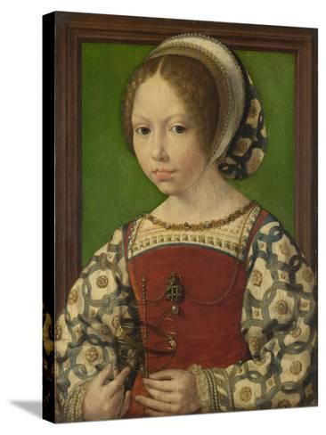 Portrait of Princess Dorothea of Denmark (1520-158), Ca 1530-Jan Gossaert-Stretched Canvas Print