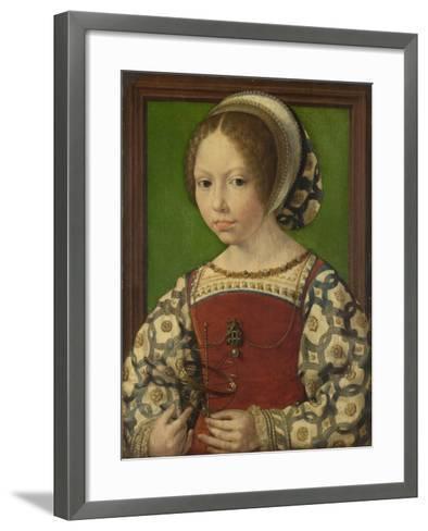 Portrait of Princess Dorothea of Denmark (1520-158), Ca 1530-Jan Gossaert-Framed Art Print
