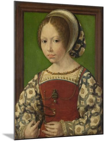 Portrait of Princess Dorothea of Denmark (1520-158), Ca 1530-Jan Gossaert-Mounted Giclee Print
