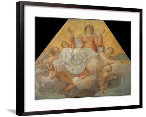 The Assumption of the Virgin, 1604-1607-Annibale Carracci-Framed Art Print
