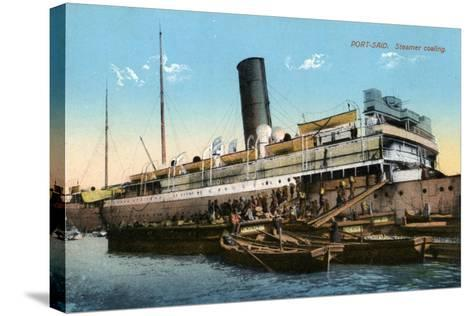 Steamer Coaling, Port Said, Egypt, 20th Century--Stretched Canvas Print